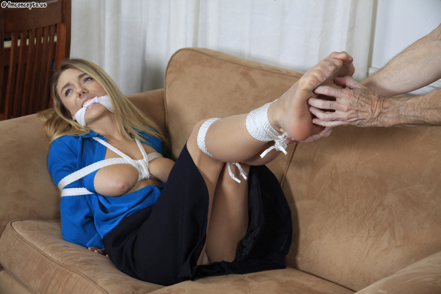 Secretaries in rope bondage